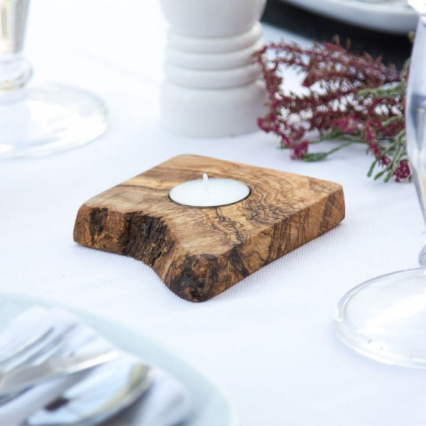 Wooden Candle Tray - 1 Tealight