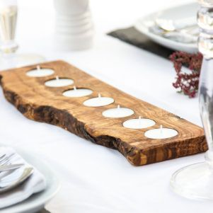 Wooden Candle Tray - 7 Tealights
