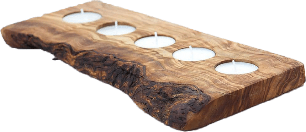 Wooden Candle Tray - 5 Tealights