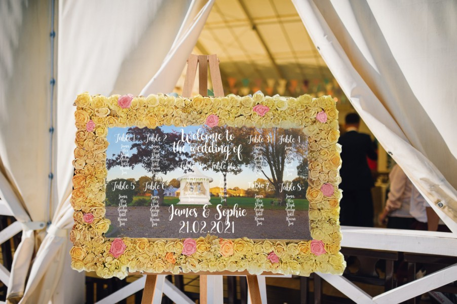 Floral Mirror (Seating Plan/ Welcome Sign)