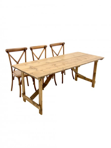 Rustic Trestle Table - 6ft x 2.5ft
