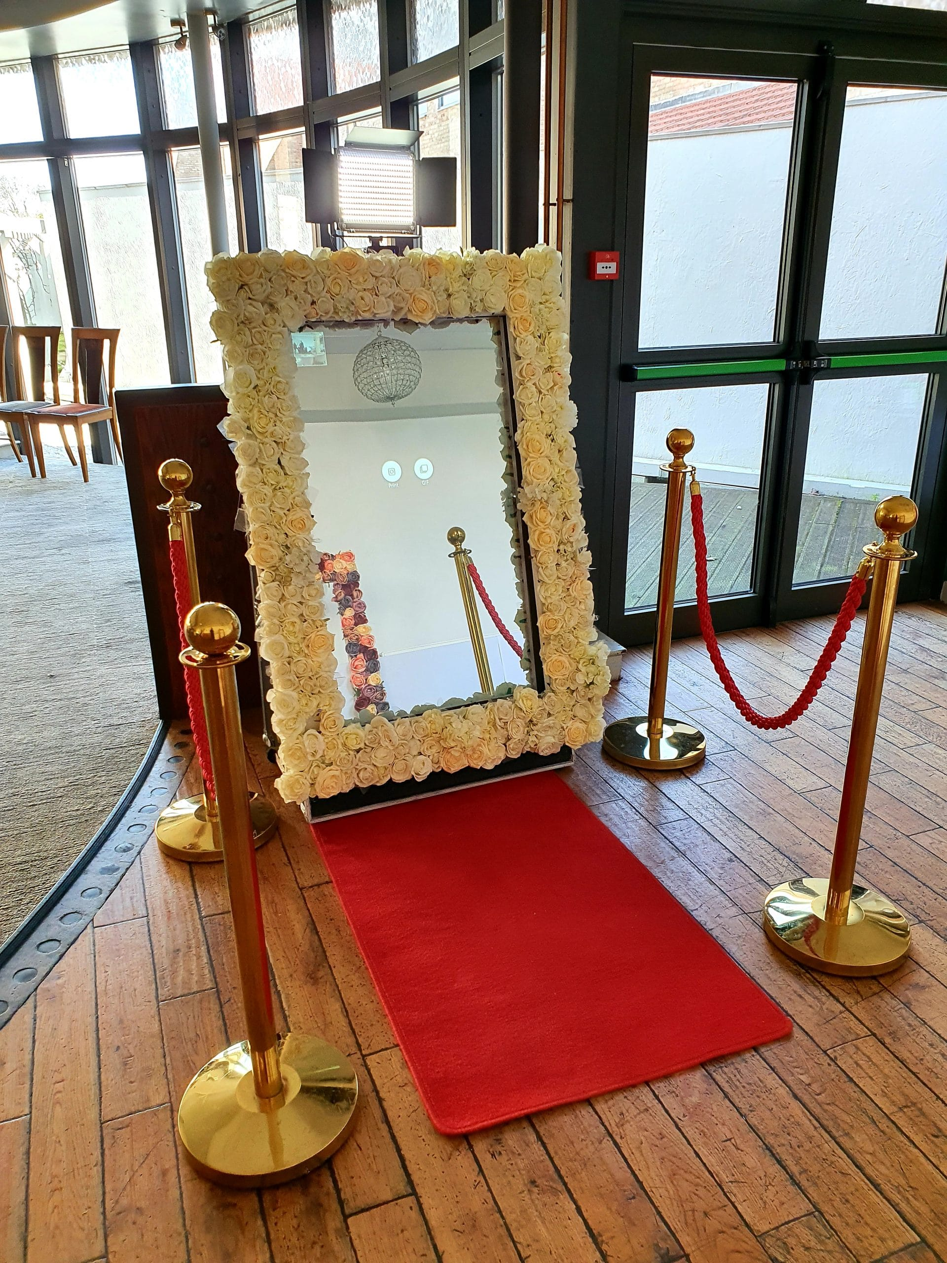 Magic Mirror - Floral Frame (White + colour of your choice)