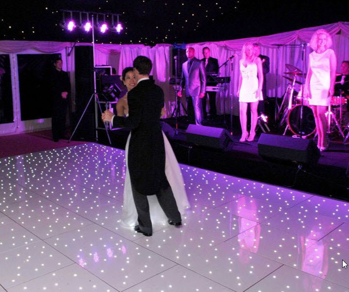 Starlit LED Dance Floor - White