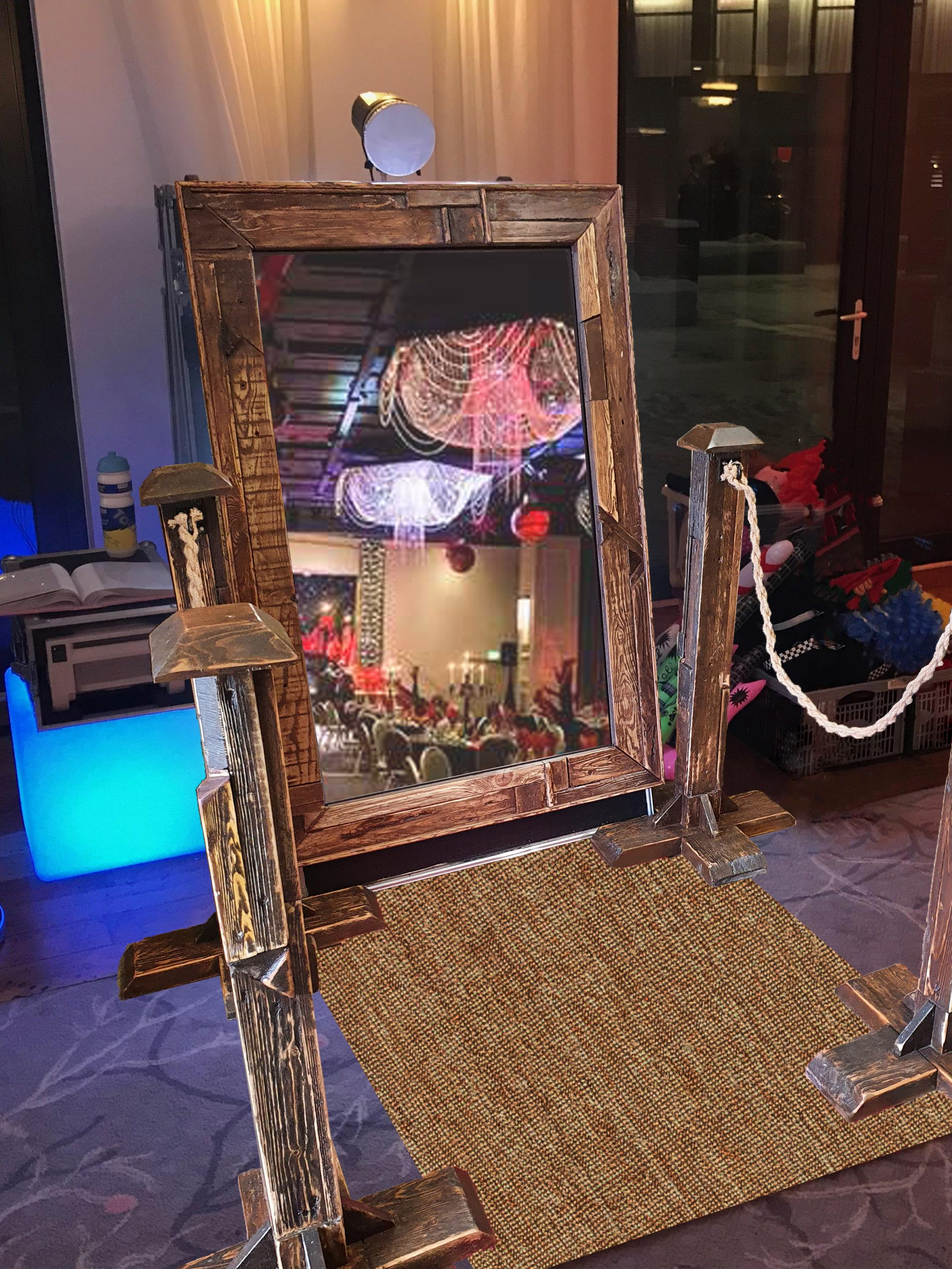 Magic Mirror - Rustic Frame