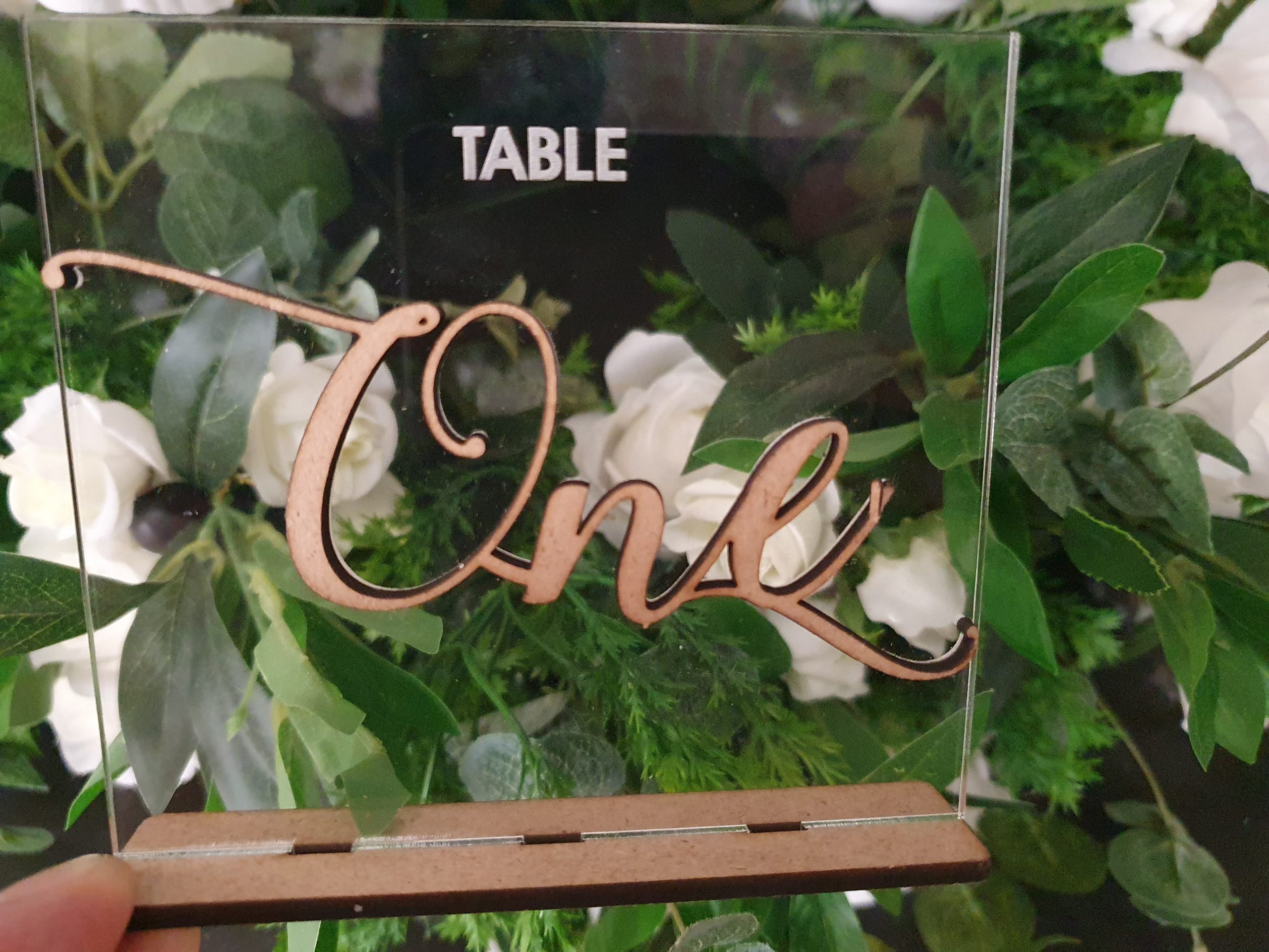 Acrylic Table Number - Rustic