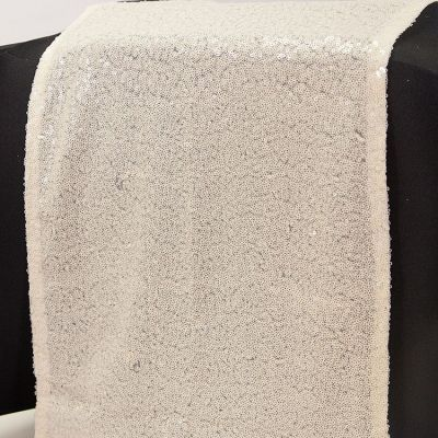 Sequin Table Runner - Ice Ivory