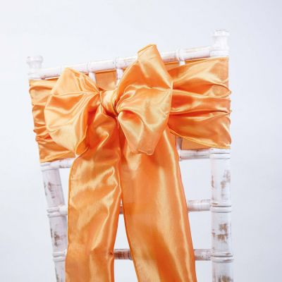 Orange - Taffeta Sash