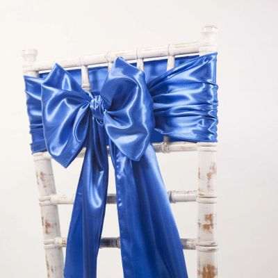 Royal Blue - Satin Sash